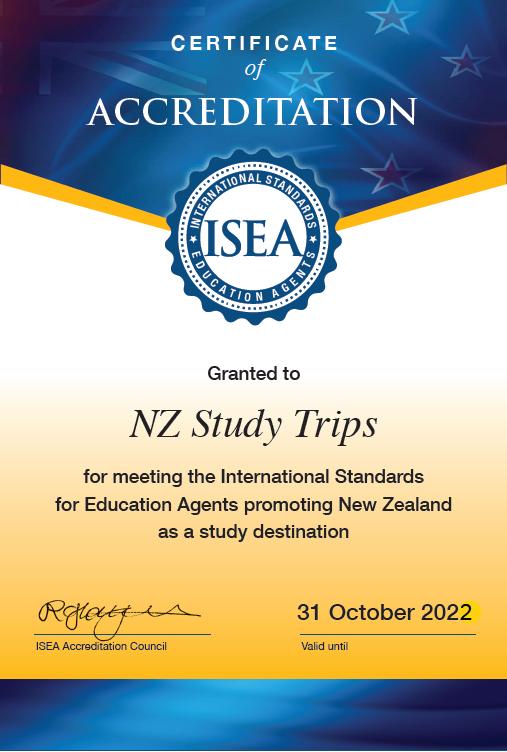ISEA Agency NZ Study Trips 311022